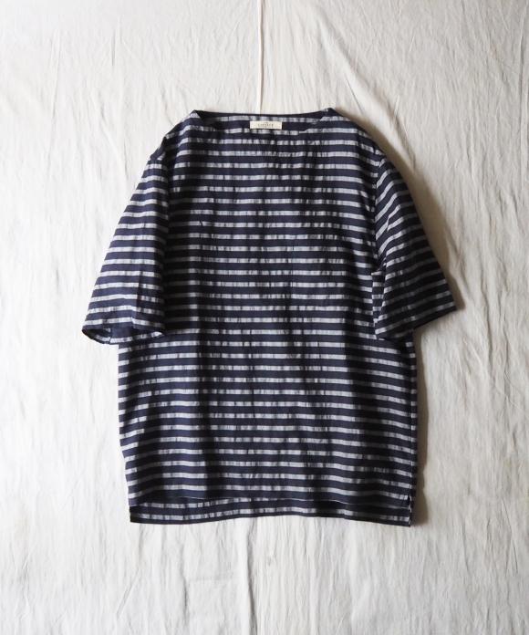 Linen Border Basque Short Sleeve Shirt Nest Robe International Online Store